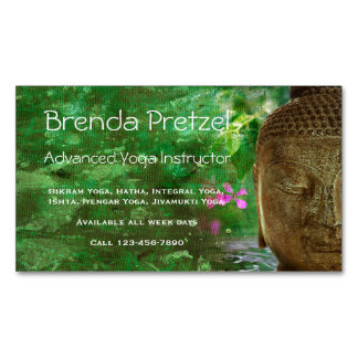 Buddha with Green Paint Magnetic Business Card