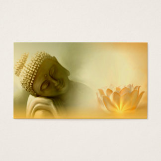 Buddha with Lotus buisness card