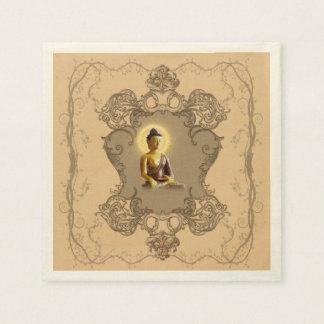 Buddha with mystical light napkin