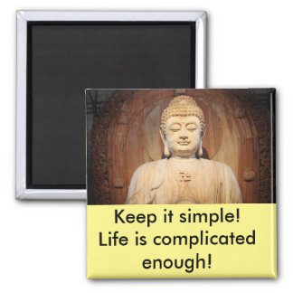 Buddha with quote magnet