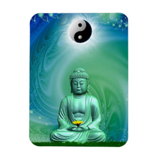 Buddha Yin Yang Fractal Premium Flexi Magnet
