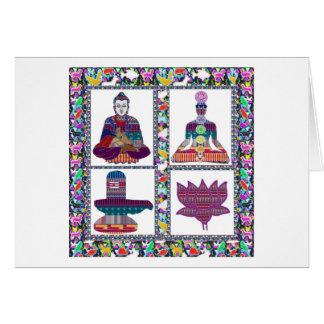 BUDDHA Yoga Meditation Religion Buddhism USA Card