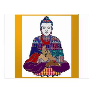 BUDDHA Yoga Meditation Religion Buddhism USA Postcard