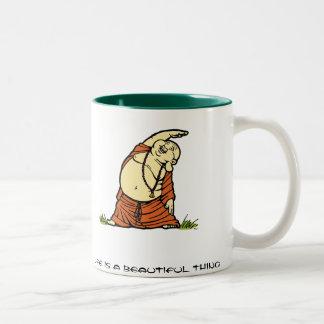Buddha Yoga Two-Tone Coffee Mug
