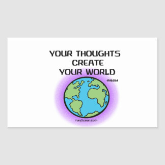 Buddha-Your Thoughts Create Your World Sticker