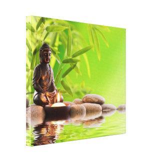 Buddha,zen, meditation,yoga peace tranquility,love stretched canvas prints
