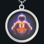 """Buddhabrot Map Mandelbrot Set Gautama Buddha Silver Plated Necklace<br><div class=""""desc"""">Buddhabrot Map Mandelbrot Set Gautama Buddha Sign up to Mr. Rebates for FREE and save 12% on any zazzle order in addition to a $5.00 sign up bonus All Rights Reserved; without: prejudice, recourse or notice (U.C.C. 1-308) http://commons.wikimedia.org/wiki/File:Buddhabrot-R20000-G1000-B100-2000.jpg Buddhabrot Mandelbrot Buddha &quot;Mandelbrot Set&quot; &quot;Gautama Buddha&quot; Buddhism spirituality zen spiritual enlighten...</div>"""