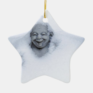 buddhainsnow.jpg adorno navideño de cerámica en forma de estrella