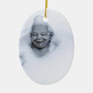 buddhainsnow.jpg adorno navideño ovalado de cerámica