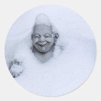 buddhainsnow.jpg sticker