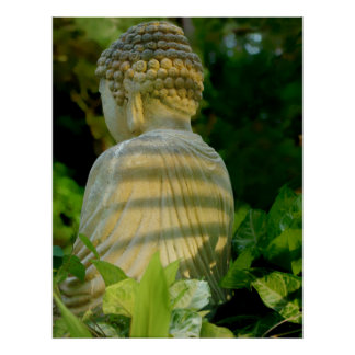 Buddha's back poster