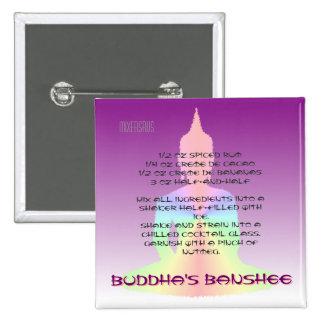 Buddha's Banshee Drink Recipe Pinback Button