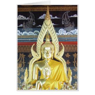 Buddhas de oro tarjeta de felicitación