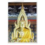 Buddhas de oro tarjetón