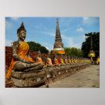 Buddhas in Ayutthaya Posters