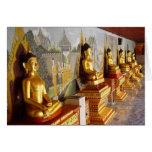 Buddhas in Chiang Mai Thailand-Blank Card