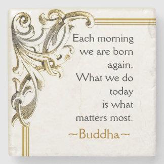 Buddha's Motivational Words Of Wisdom Stone Coaster
