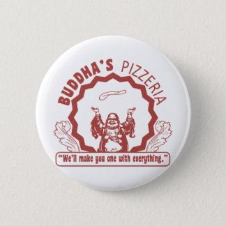 Buddha's Pizzeria Pinback Button