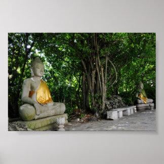 Buddhas que se sienta camboyano impresiones