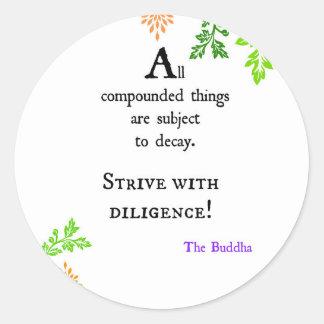 Buddha's Quote Classic Round Sticker