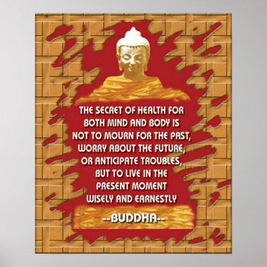 buddha's secret of health poster