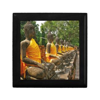 Buddhas tailandés caja de joyas
