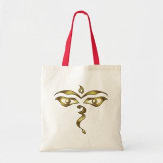 Buddha's Wisdom Eyes Nepalese Buddhist Tote Bag