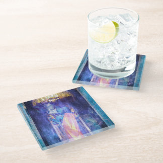 Buddhaverse Glass Coaster