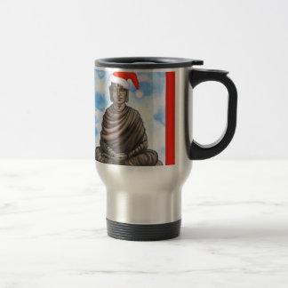 Buddhism - Buda - gorra de las Felices Navidad Taza De Viaje