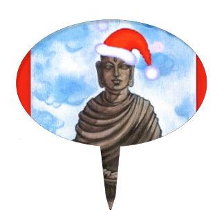 Buddhism - Buddha - Merry Christmas Hat Cake Topper