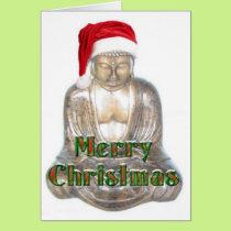 Buddhism - Buddha - Merry Christmas Hat Card