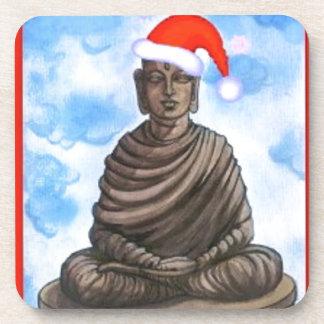 Buddhism - Buddha - Merry Christmas Hat Coaster