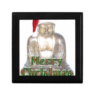 Buddhism - Buddha - Merry Christmas Hat Keepsake Box