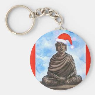 Buddhism - Buddha - Merry Christmas Hat Keychain
