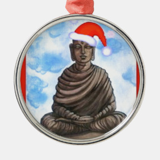 Buddhism - Buddha - Merry Christmas Hat Metal Ornament