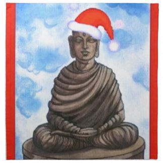 Buddhism - Buddha - Merry Christmas Hat Napkin