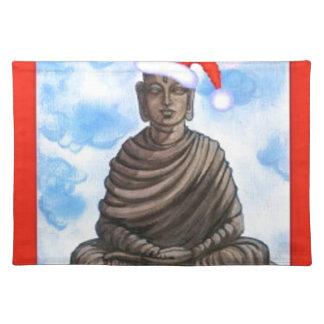 Buddhism - Buddha - Merry Christmas Hat Placemat