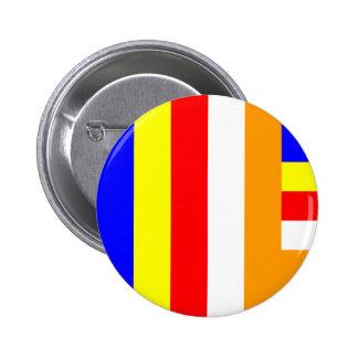 Buddhism - Buddhist Flag Button