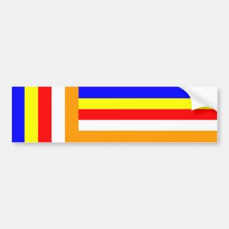 Buddhism - Buddhist Flag Car Bumper Sticker