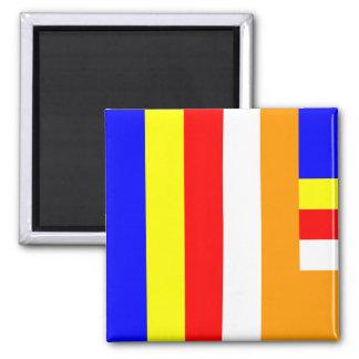 Buddhism - Buddhist Flag Magnet