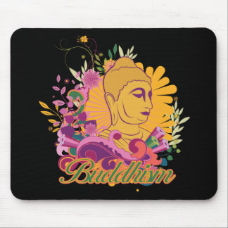 Buddhism Color Mouse Pad