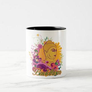 Buddhism Color Two-Tone Coffee Mug