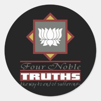 Buddhism cuatro verdades nobles pegatina redonda