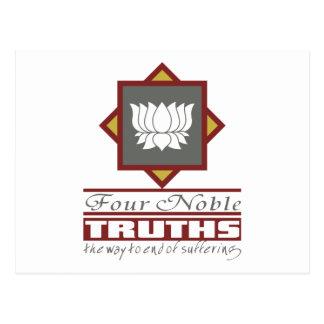 Buddhism cuatro verdades nobles postales