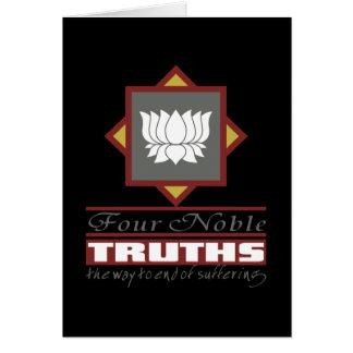 Buddhism cuatro verdades nobles tarjeta de felicitación