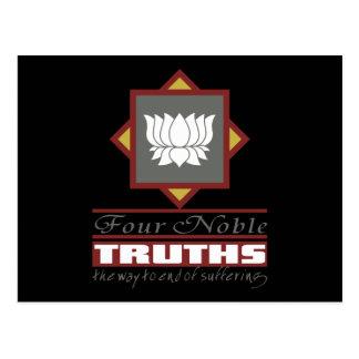 Buddhism cuatro verdades nobles tarjeta postal