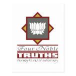 Buddhism cuatro verdades nobles tarjetas postales