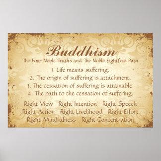 Buddhism cuatro y ocho póster