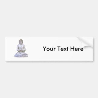 Buddhism del budista del ~ de Buda que se sienta Pegatina De Parachoque
