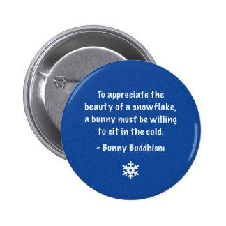 "Buddhism del conejito ""belleza botón de un copo de pin redondo de 2 pulgadas"